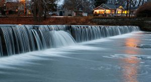 The 0.5-acre Waterfalls Area provides a soothing respite among the waterfall and majestic sycamore trees. Photo courtesy of Hancock Park District.